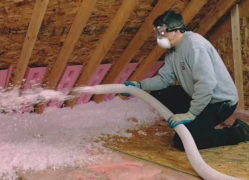 Spraying Insulation